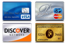 We Accept Visa Mastercard Discover and American Express in 90601